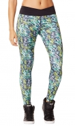 ZUMBA Voltage Crossover Perfect Long Leggings - ZELENO-ŽLTÉ - 31,47 €