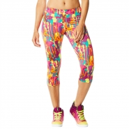 ZUMBA Amazon Perfect Capri Leggings - RUŽOVO-ŽLTÉ - 24,67 €