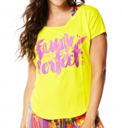 ZUMBA Funk Perfect Tulip Top - ŽLTÉ - 19,16 €