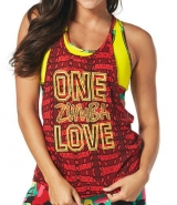 ZUMBA One Zumba Love Bubble Tank - ČERVENÉ - 22,37 €