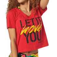 ZUMBA Let It Move You Tee - ČERVENÉ - 19,47 €