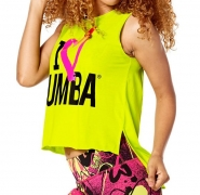 ZUMBA Love Slashed Tee - ZELENÉ - 21,56 €
