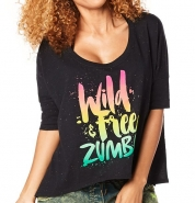 ZUMBA Wild About Zumba Off The Shoulder Tee - ČIERNE - 29,95 €