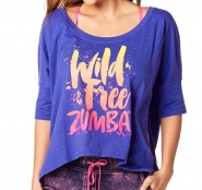 ZUMBA Wild About Zumba Off The Shoulder Tee - FIALOVÉ - 29,95 €