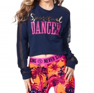 ZUMBA Spiritual Dancer Long Sleve Crop Top - MODRÉ - 28,46 €