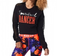 ZUMBA Spiritual Dancer Long Sleve Crop Top - ČIERNA - 37,95 €