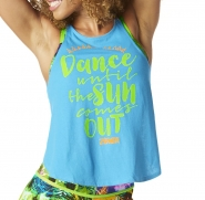 ZUMBA All Night open Back Tank - TYRKYSOVÉ - 22,95 €