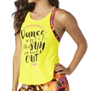 ZUMBA All Night open Back Tank - ŽLTÉ - 22,95 €