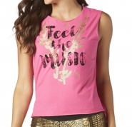 ZUMBA Feel The Music Slashed Hi Lo Tank - RUŽOVÉ - 27,95 €