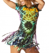 ZUMBA The Mission Off The Shoulder Slashed Tee - TYRKYSOVÉ - 32,95 €
