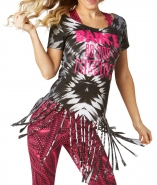 ZUMBA The Mission Off The Shoulder Slashed Tee - ČIERNE - 32,95 €