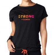 ZUMBA STRONG By Zumba Instructor Drawstring Top - ČIERNY - 32,95 €