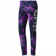 REEBOK Working Smoke Print Tight - FIALOVO-ČIERNE - 44,95 €