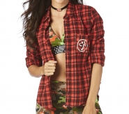 ZUMBA Party In Da Basement Flannel - ČERVENÁ - 38,95 €