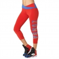 ZUMBA Dance Like a Boss Crop Leggings - ČERVENÉ - 43,95 €