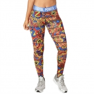 ZUMBA Power Long Leggings - ČERVENO-MODRÉ - 30,77 €
