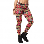 ZUMBA Pretty Powerful Ankle Legging - ČERVENO-ŽLTÉ - 31,47 €