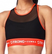 ZUMBA STRONG By Zumba Cross Back Bra - ČIERNO-ORANŽOVÝ - 38,95 €