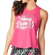ZUMBA I Sweat Diamonds Open Back Tank - RUŽOVÉ - 29,95 €