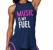 ZUMBA Music Is my Fuel Instr. Tight Tank - MODRÉ - 34,95 €