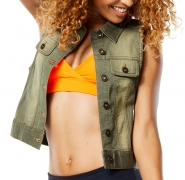 ZUMBA World Tour Denim Vest - KHAKI - 27,97 €