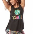 ZUMBA Dance Outside Open Back Tank - ČIERNE - 31,96 €