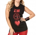 ZUMBA Made With Zumba Love Muscle Tank - ČIERNE - 29,95 €