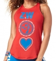 ZUMBA Made With Zumba Love Highneck Tank - ČERVENÉ - 31,95 €