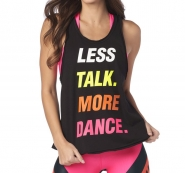ZUMBA Less Talk More Dance Tank - ČIERNE - 25,96 €