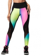 ZUMBA Surf Highwaisted Panel Legging - ČIERNO-RUŽOVÉ - 59,95 €